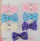 2014 Newest Fashion Ribbon Hair Barrette plain metal barrettes wholesale Bow Women Hair Clip