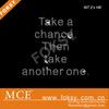 Take chance letter t shirt rhinestone designs