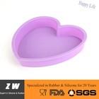 ZW FDA LFGB Silicon Heart Shape Cake Pan