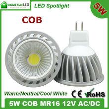 12V LED light MR16 COB 5W dimmable