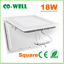 2014 18w led square panel light,3000K/4000K/6000K,225*20mm,dimmable led ceiling light 220V