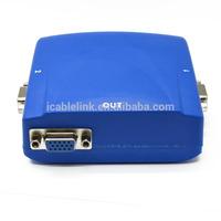 2014 HOT 2port vga sharing switch blue
