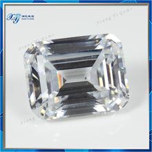 Beautiful Emerald Cut 8x10mm Synthetic Diamond Price Per carat Wholesale Price Uncut Diamond Prices