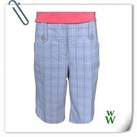 2015 fashion women outdoor clothing cotton plaid short pants