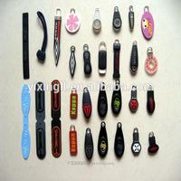 high quality rubber zipper puller rubber zip puller rubber silicon zipper puller / slider