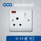 15a electrical switch and socket with/without neon