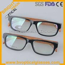 Unisex fashionable comfortable wayfarer wood/bamboo temple sunglasses acetate optical frames (SDM 3129)