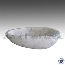 Guangxi White Marble Free Standing Bath Tub