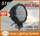 51w super brightness led working lamp 4x4 accessories , good quality 12w led driving light , led off road light bar