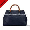 alta qualidade da senhora bolsa com alça de bambu saffiano bolsa de couro bolsas das mulheres por atacado