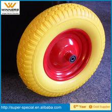 4.00-8 PU foam filled wheelbarrow wheel