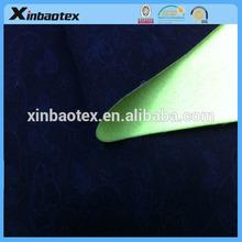 XB1152 printed polyester peach skin fabric+TPU film + 50D/72F micro fleece