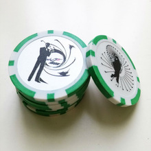 customized poker chips with printing sticker