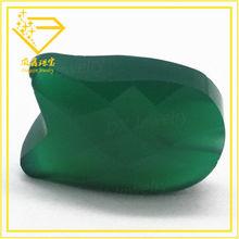 hot sale rough fancy cut green glass stone in bulk made in China