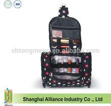 Popular Polka dot cosmetic tote bag Women Toiletry Custom Cosmetic Bag