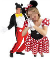 Topolino e minnie mouse coppia costume costume 2 persona cm-1674 moscot costumi