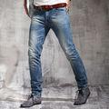 Chegada nova alta qualidade 100% algodão homens denim calças jeans atacado cônico bigode lixívia de lavagem de pedra homens calça jeans pm011c