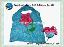flower shaped cheap nylon foldable shopping bag