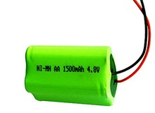4.8v 1500MAH battery packs 4.8v nimh battery packs 4.8v nimh