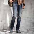 Hot vente 2014 élégante. faible cintrée avec décoration en métal de la chaîne pantalons jeans moustaches occasionnelsprix confortables, 100% pm013c coton