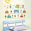 2014 Kids Room Decor Art PVC Wall Stickers Removable vinyl wall decal cartoon the children car wall sticker