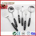 Venta caliente de mango de plástico d0701-d0709 utensilios de cocina utensilios de la india
