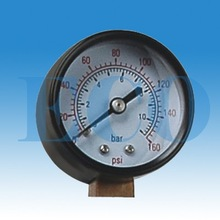 Dry Black Steel Bourdon Tube Pressure Gauge