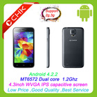 CHK V28 2014 chinese cheap android phone MT6572 1.2GHz dual core made in china 4.3 inch IPS capacitive screen phone