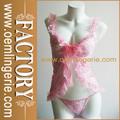 chegada nova rosa laço ruffle mulheres sexo lingerie conjunto