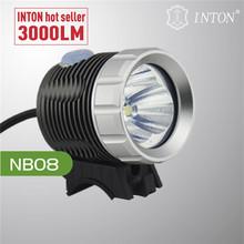 INTON 2014 hot selling high brightness 3000 lumens led light bike
