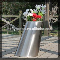 FO-9044 Stainless Steel Decorative Garden Pots, Flower Pots Wholesale
