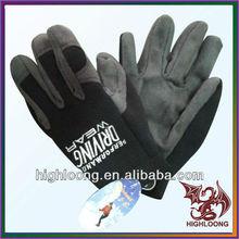 Durable Winter Motorcycle Cycling Polar Fleece Grey Sublimated Cycling Gloves for Men