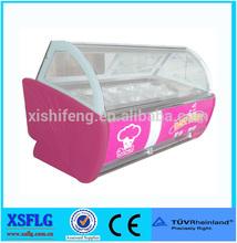 XSFLG Curved glass Italian ice cream display freezer