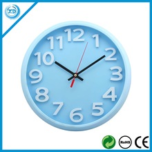 Round 3D design wall clock with sweep movement for promotion gift