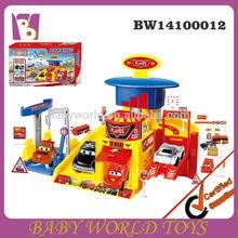 plastic toy car garage parking lot set,plastic road set toy cars