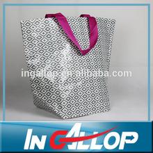 diamond print pp woven promotion shopping bag