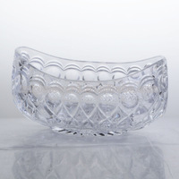 Antique hot sell glass fruit bowls with bead with carve