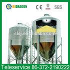small hopper bottom corrugated grain silos