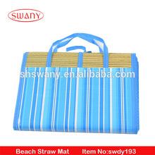 2015 Fashion Foldable Design Straw Beach Mat