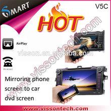 2014 vissontech New wireless WIFI Mirror Link Car DVD Player from vissontech