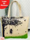 partysu Korean women fashion canvas shopping handbag for college students