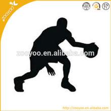 zooyoo hot design basketball player vinyl sticker decoration for boy's room