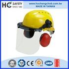 Workplace hard hat head protective PC clear visor earmuff safety helmet