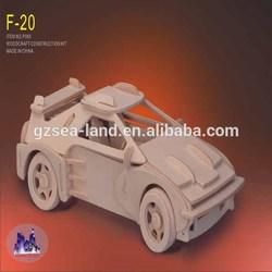 "3D Jigsaw Puzzle 61 Pieces 7""X3""X2.5""-F-20 Car"
