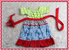 Adorable Baby Girls Hand Made Cotton Dress Designs Fancy Short Sleeve Chevron And Floral Pattern Boutique Kids Casual Dresses