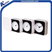 foldable travel alarm clock with temperature and humidity