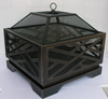 Steel outdoor fireplace YP026 with high temperature black paint finish