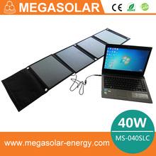 40W Portable Folding Solar Panel / Solar Charger Bag for Laptops / Mobile Phones, 18V / 5V
