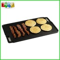 Ferro fundido churrasco/gás/carvãovegetal pan grill, lateral dobro grill pan, churrasco coreano grill chapa