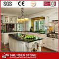 cocina superior isla artificial de piedra de cuarzo de la losa compuesto